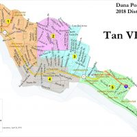 Map of Dana Point Voting Districts map tan vi
